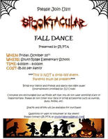 Fall Dance Friday October 20th