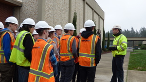 RHS STEM Students Observe Geological Engineering Field Work on Campus