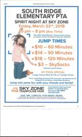 South Ridge PTA Spirit Night at Sky Zone