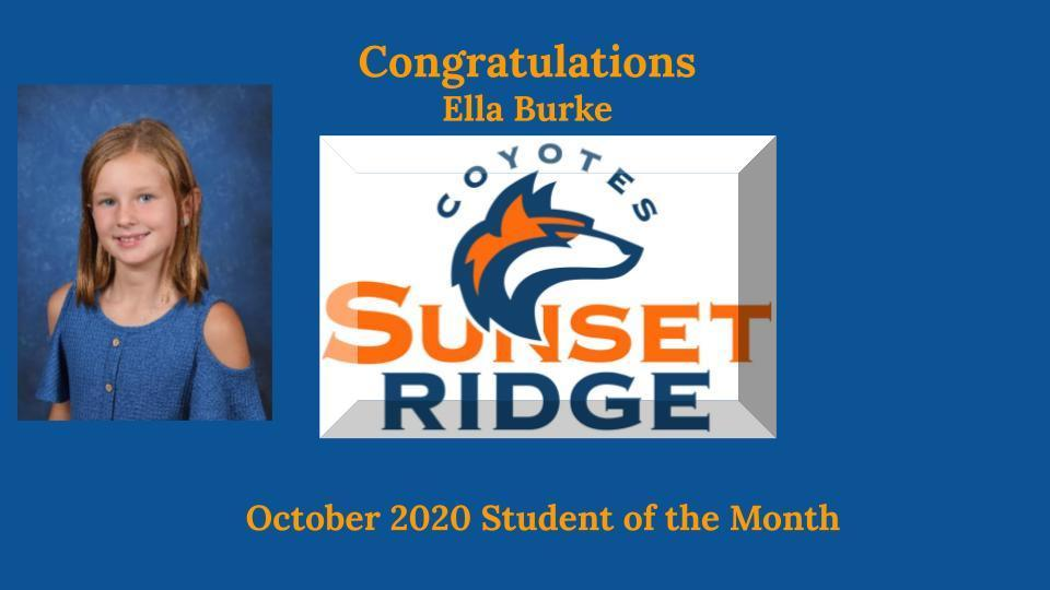 October's Student of the Month - Ella Burke