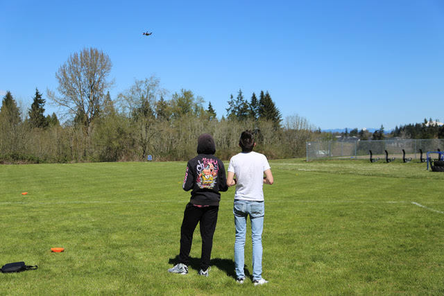 Ridgefield's High-Flying Engineering Class Builds and Launches Drones