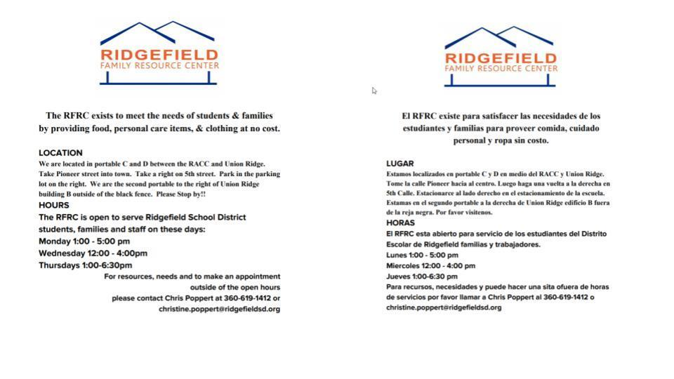 Ridgefield Family Resource Center