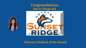 February Student of the Month - Marin Fitzgerald