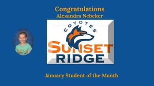 January Student of the Month - Alexandra Nebeker