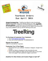 Yearbook Orders Due April 30th 2020