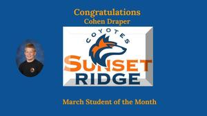 March Student of the Month - Cohen Draper