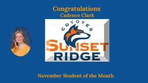 November Student of the Month - Cadence Clark