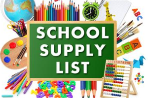 Updated Remote Learning School Supplies List