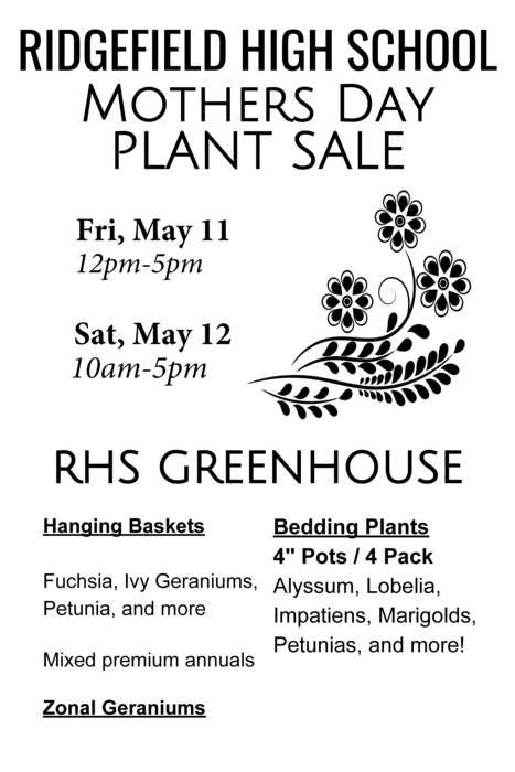 RHS Mothers Day Plant Sale Flyer - Public