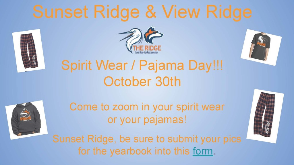 10/22/2020 Yearbook Picture Submission and Upcoming Spirit Day!