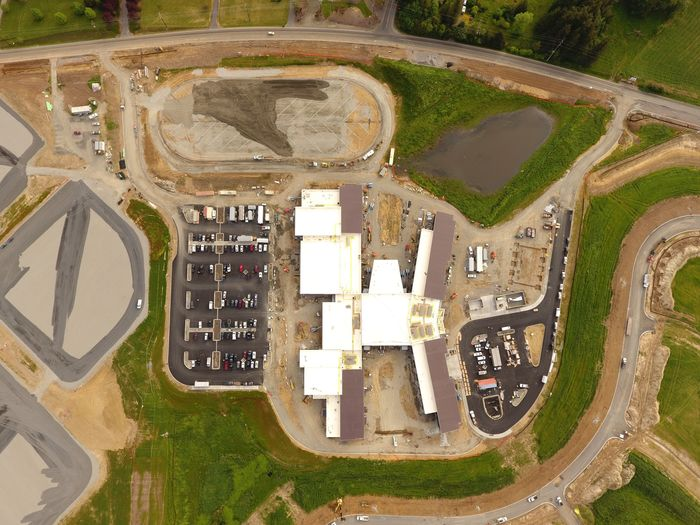 Aerial photo of 5-8 complex as of 5/11/18.