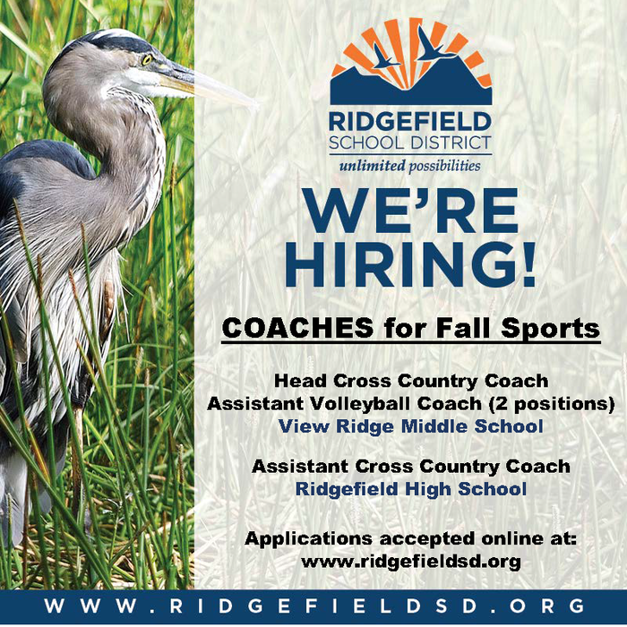 Job posting for Fall Sports coaches