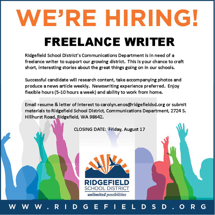 HR blast for Freelance Writer 8.2.18