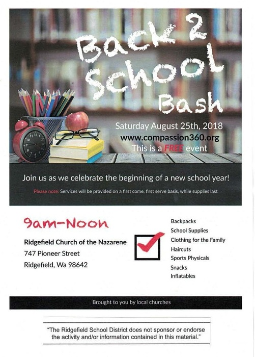 Back 2 School Bash Flyer