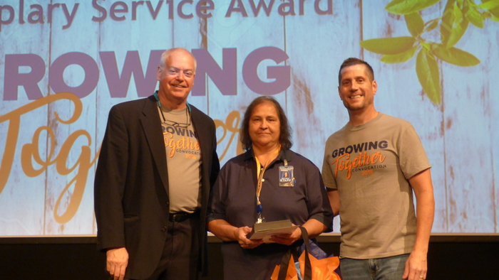 Mary Rojas, Partner Exemplary Service Award Honoree at Convocation 2018