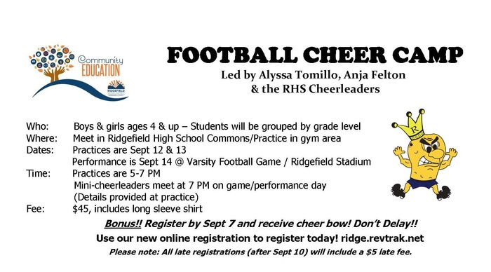 Football Cheer Camp Flyer