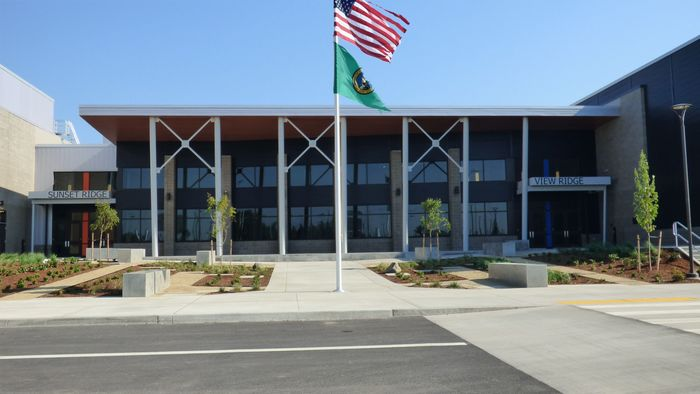 Front of New 5-8 Schools Campus