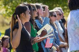 U.S. naturalization ceremony graphic
