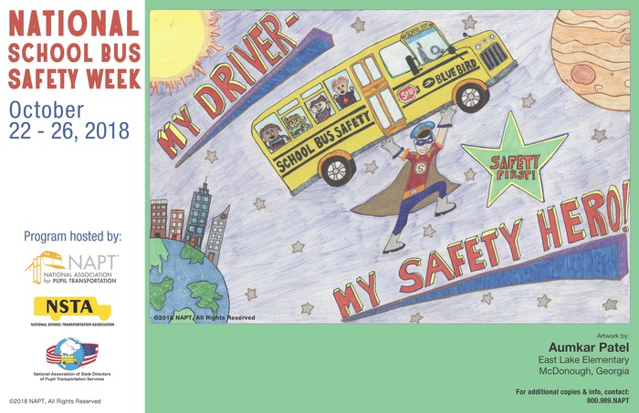 National School Bus Safety Week 2018 Poster
