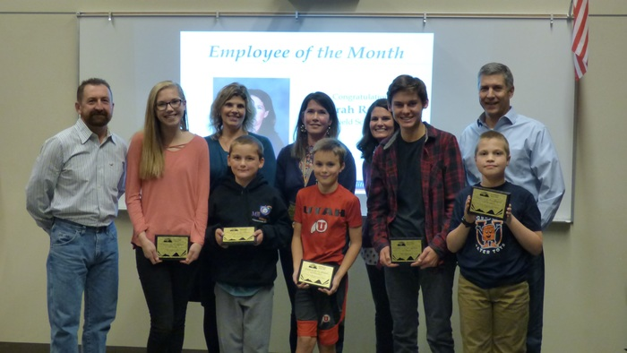 Nov 2018 Employee and Students of the Month for November