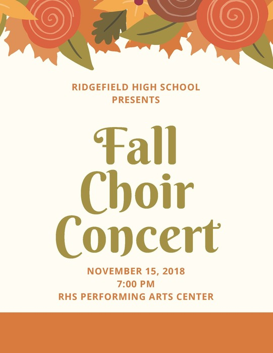 RHS Fall Choir Concert flyer - Nov 15 2018