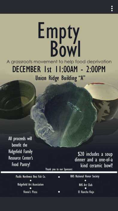 Empty Bowl Event December 2018 poster