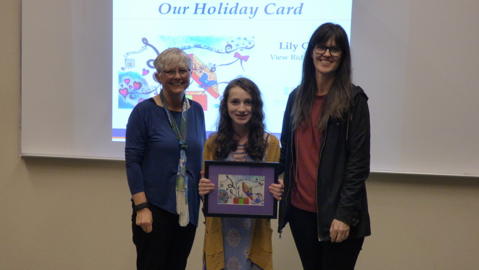 Winner in 2018 Superintendent's Holiday Greeting Card Contest