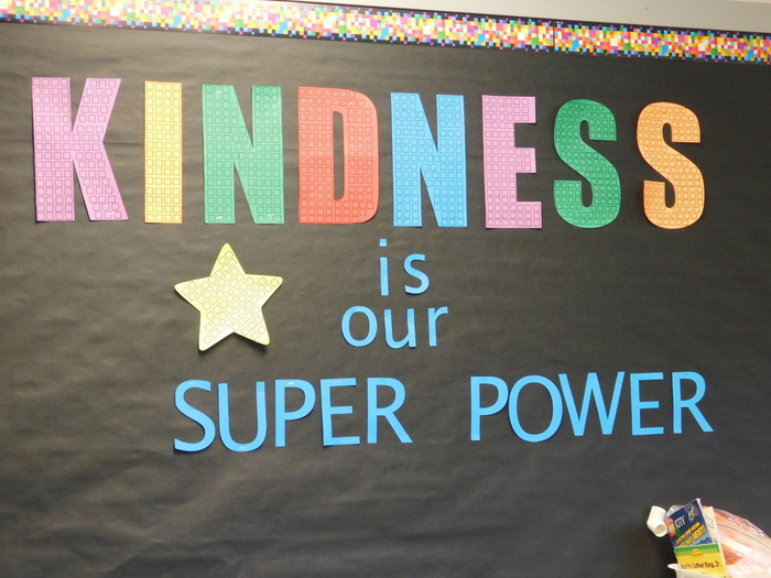 The Great Kindness Challenge poster in Sara Eastham's 2nd grade classroom