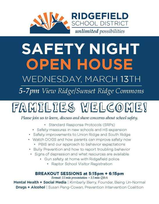 Safety Night 2019 flyer