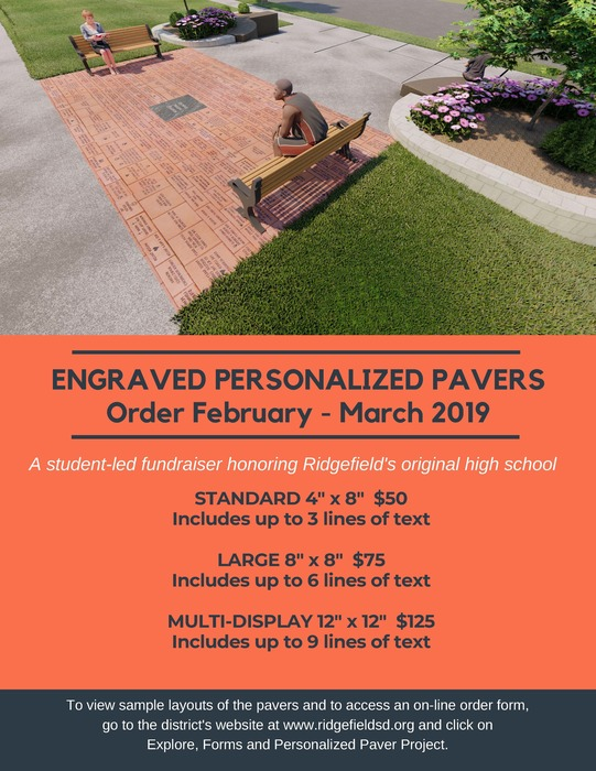 Engraved personalized paver flyer