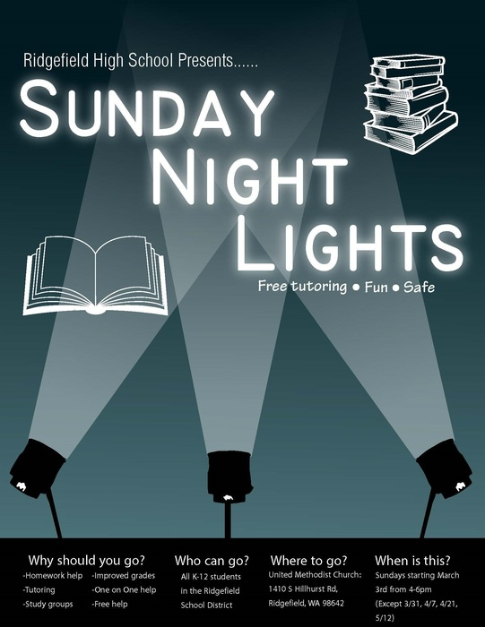 Sunday Night Lights flyer