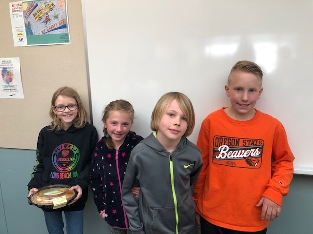 4th grade Classroom Mathematical Pi champs!