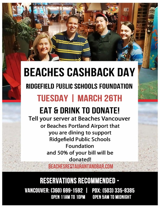 Beaches Cashback Day 2019 flyer