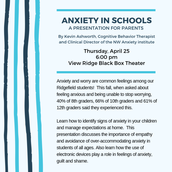 Anxiety in Schools flyer