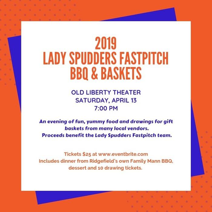 2019 Lady Spudders Fastpitch BBQ & Baskets flyer