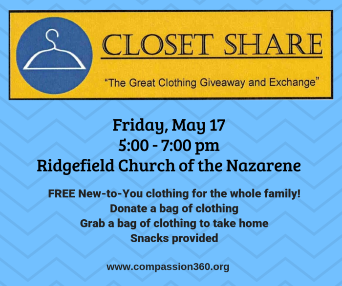 Closet Share Flyer - May 17, 2019