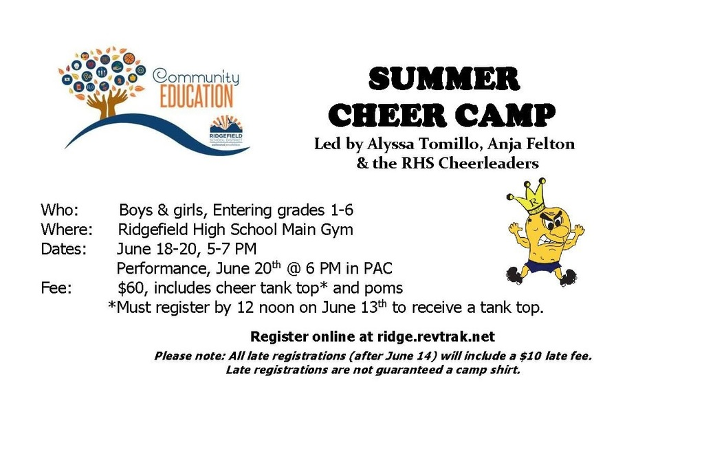 Summer Cheer Camp flyer
