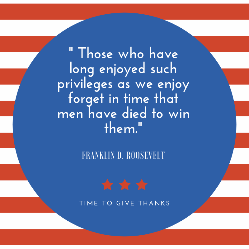 Quote from Franklin D. Roosevelt