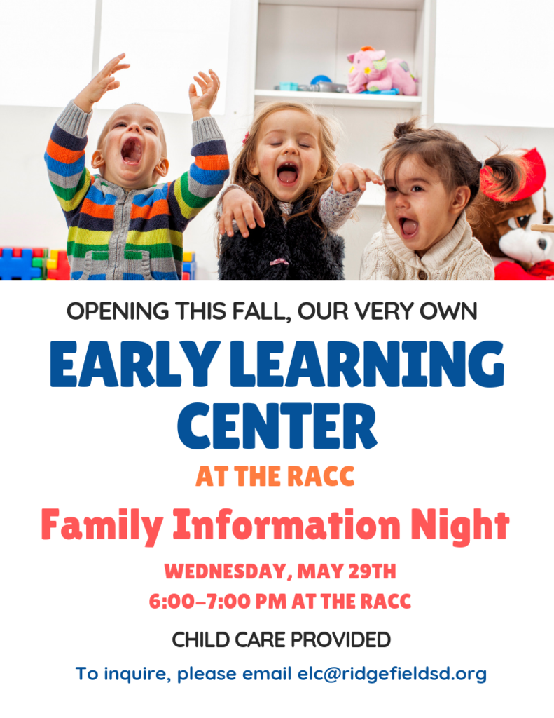 ELC Family Information Night flyer