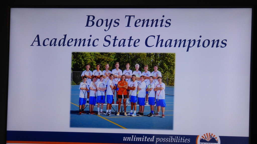Boys Tennis Team 2018-19
