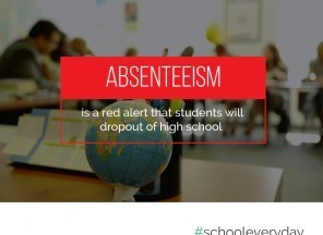 Absenteeism is a red alert that students will drop out of high school.