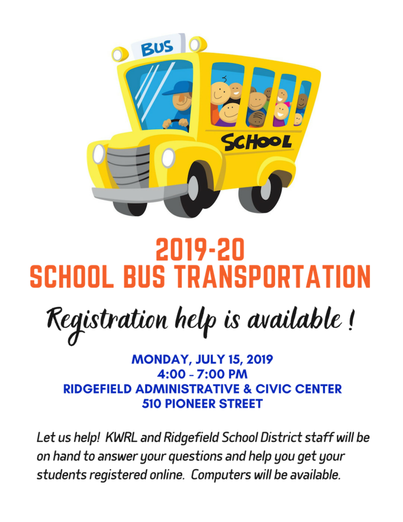 School bus registration help flyer