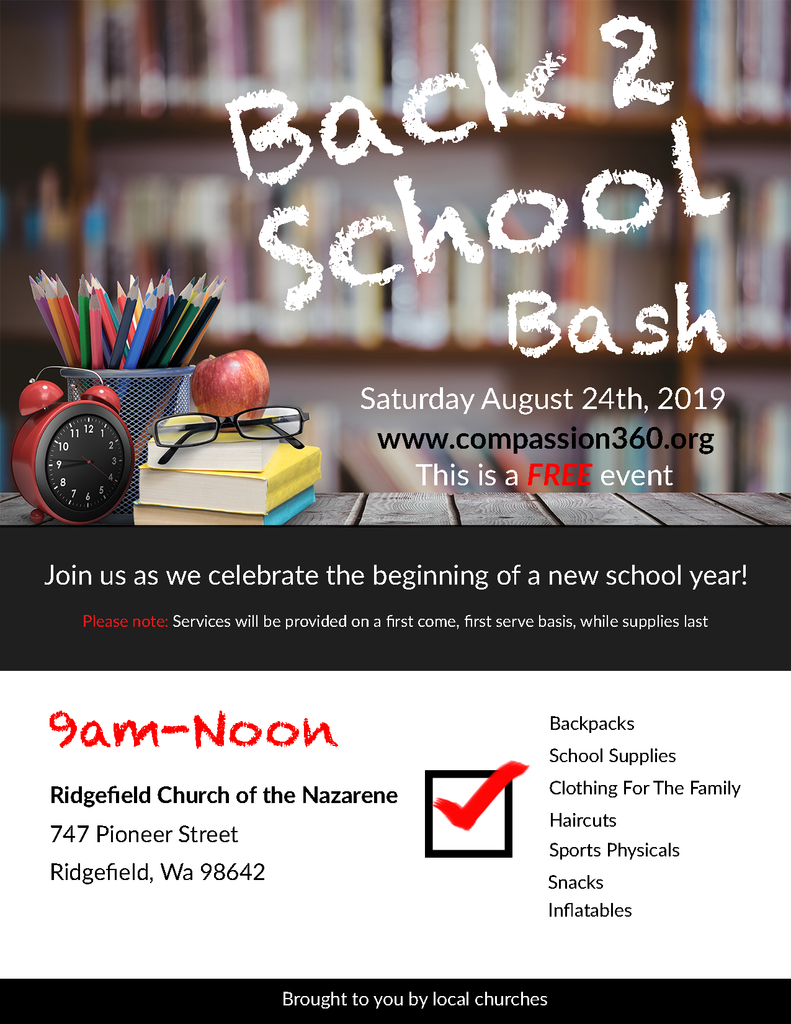 Back2School Bash Aug 24 2019 flyer