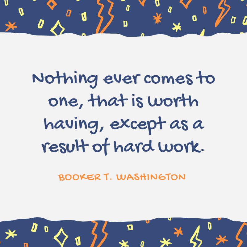 Quote from Booker T. Washington