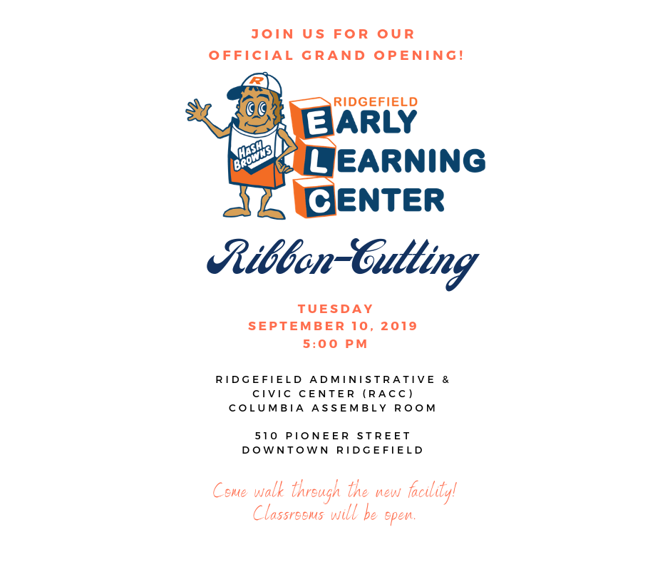 Early Learning Center Ribbon-Cutting Invitation