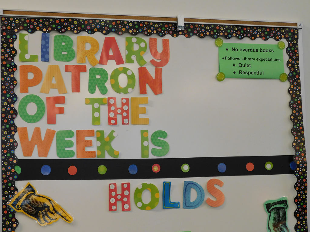 Library Patron bulletin board at SRIS/VR