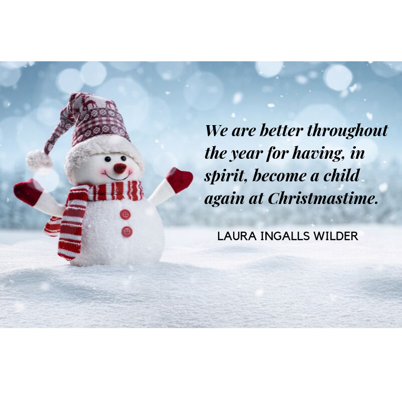 Quote from Laura Ingalls Wilder