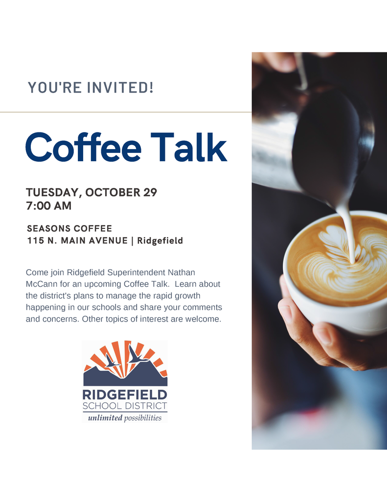 Coffee Talk graphic 10/29/19
