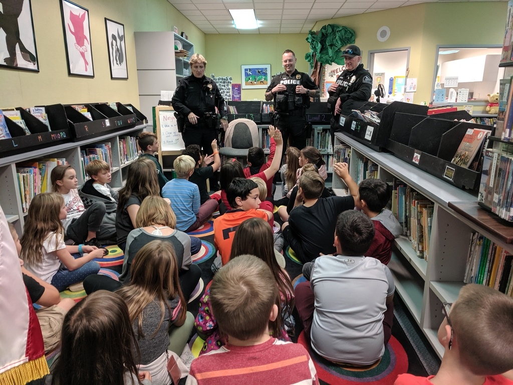Reading with a cop
