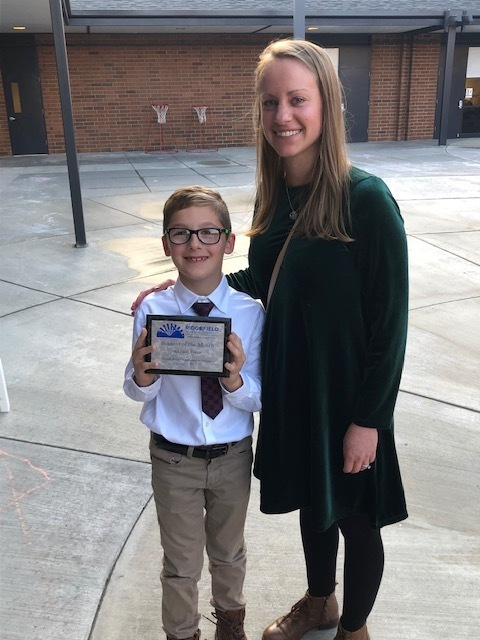Congratulations to Addison Speer - October Student of the Month!